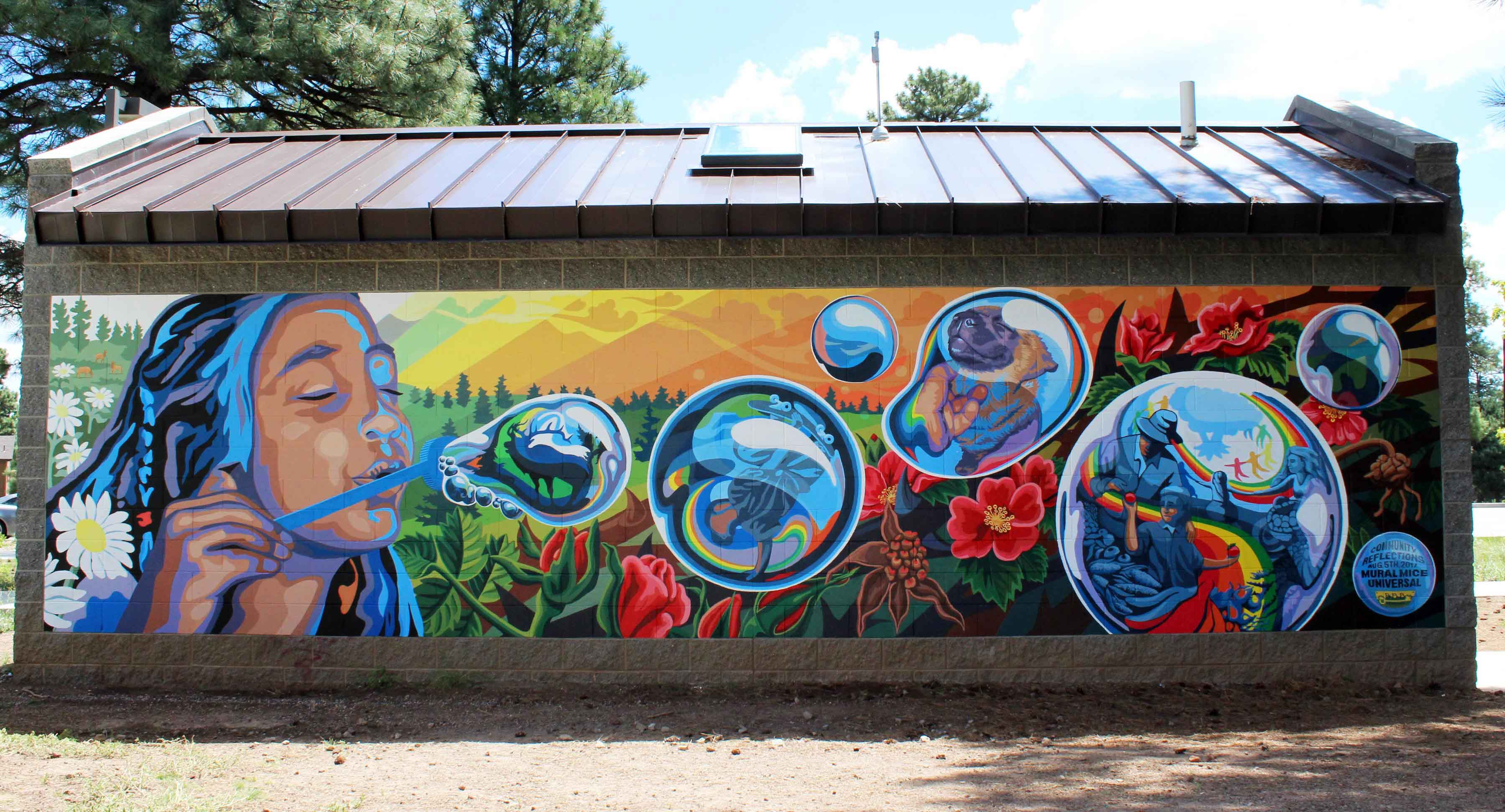 Community Reflections Mural at Bushmaster Park