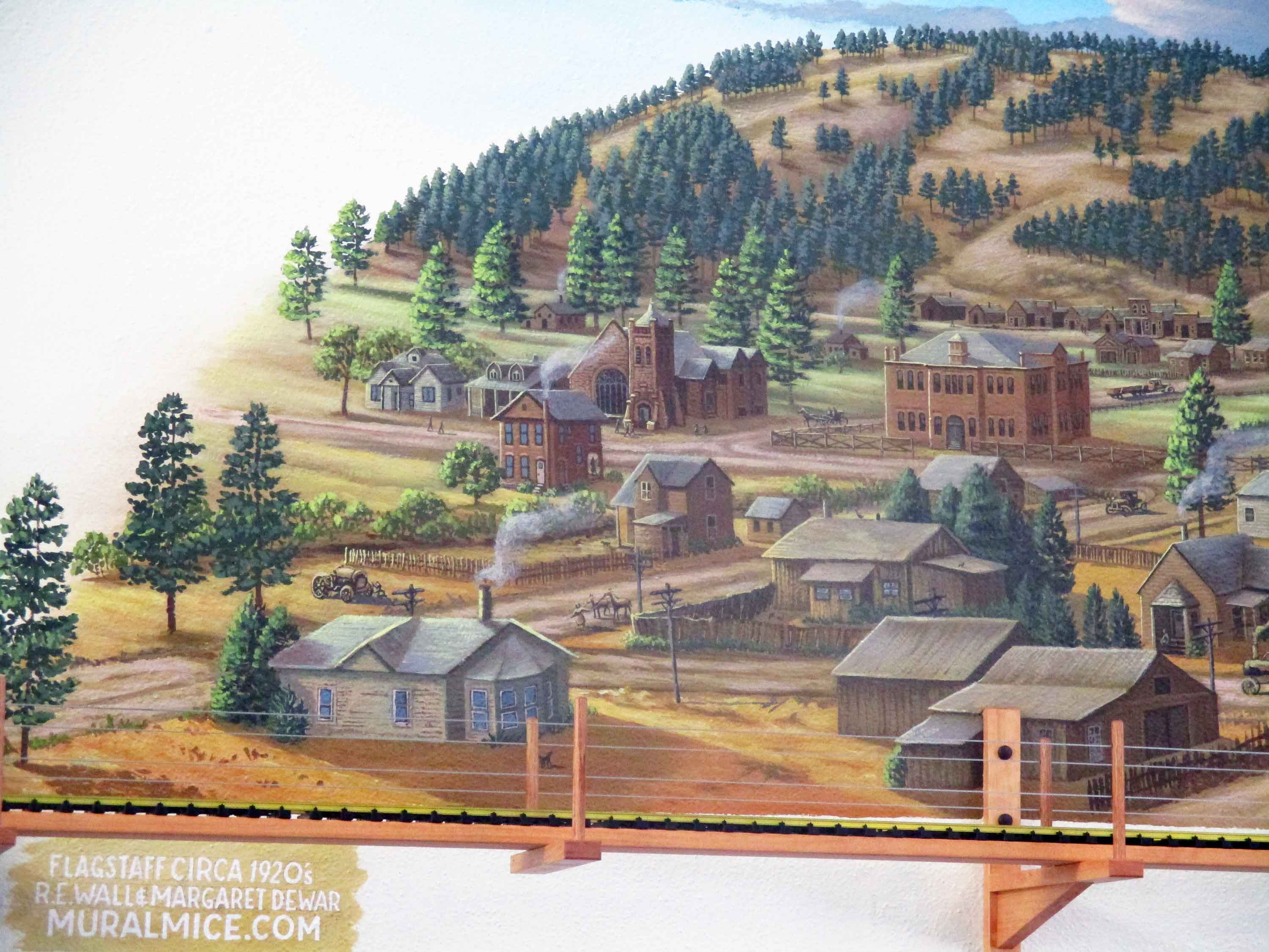 Flagstaff Visitor Center Mural 73