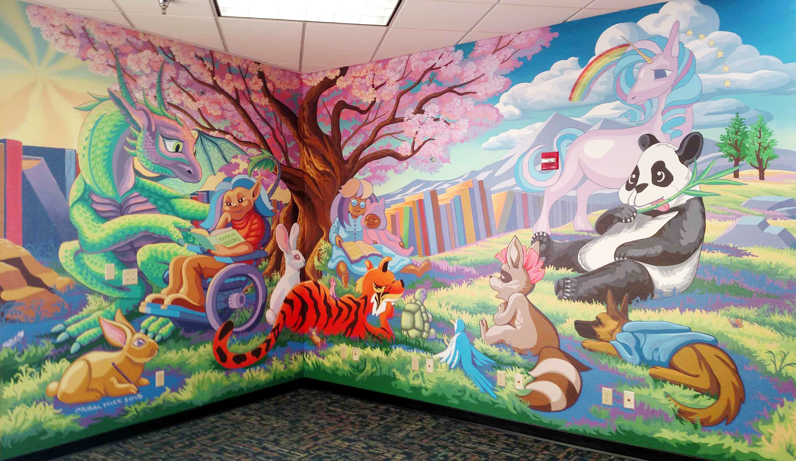 East Flag Library Childrens Mural