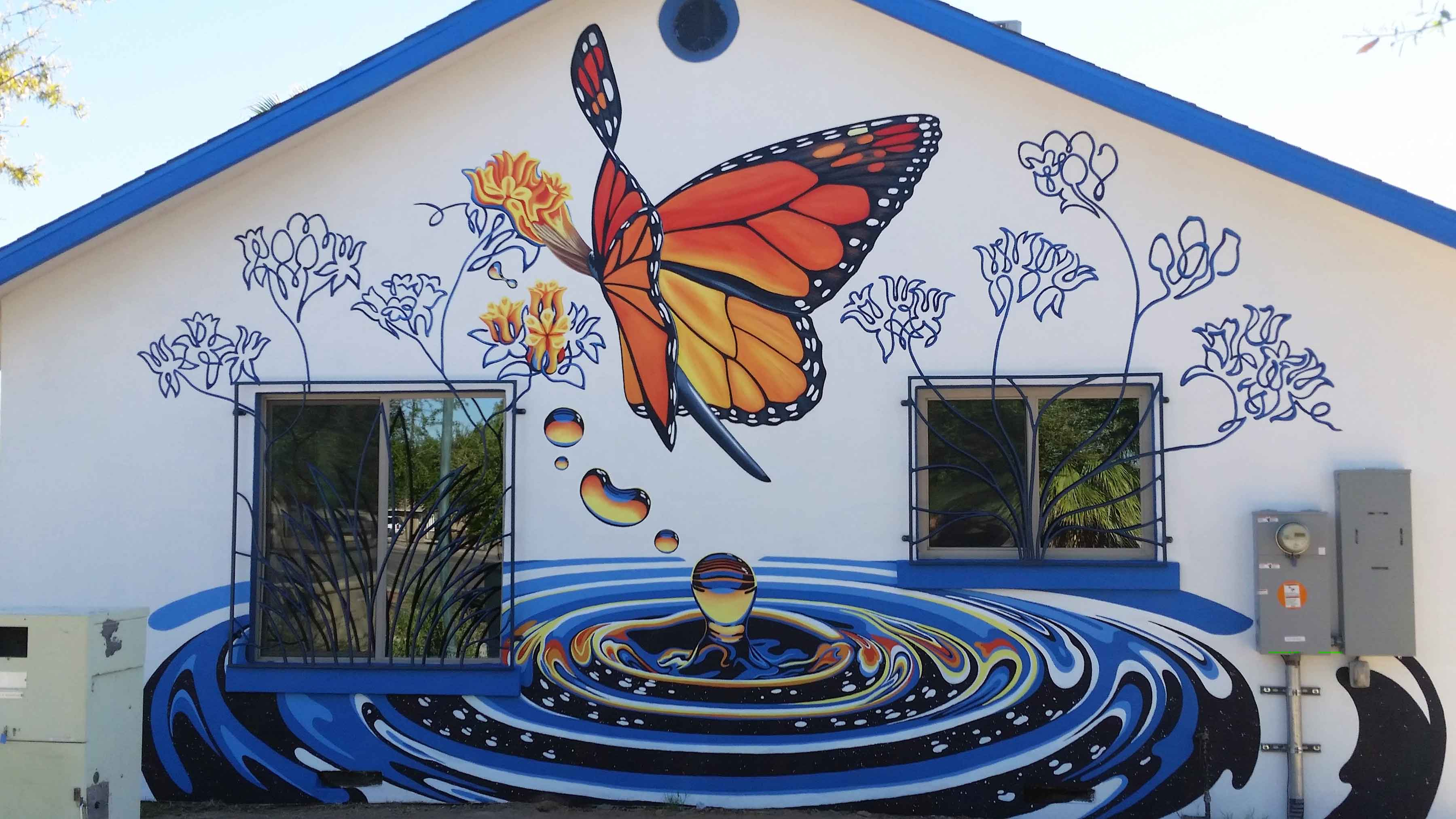 Peoria Butterfly house mural 1