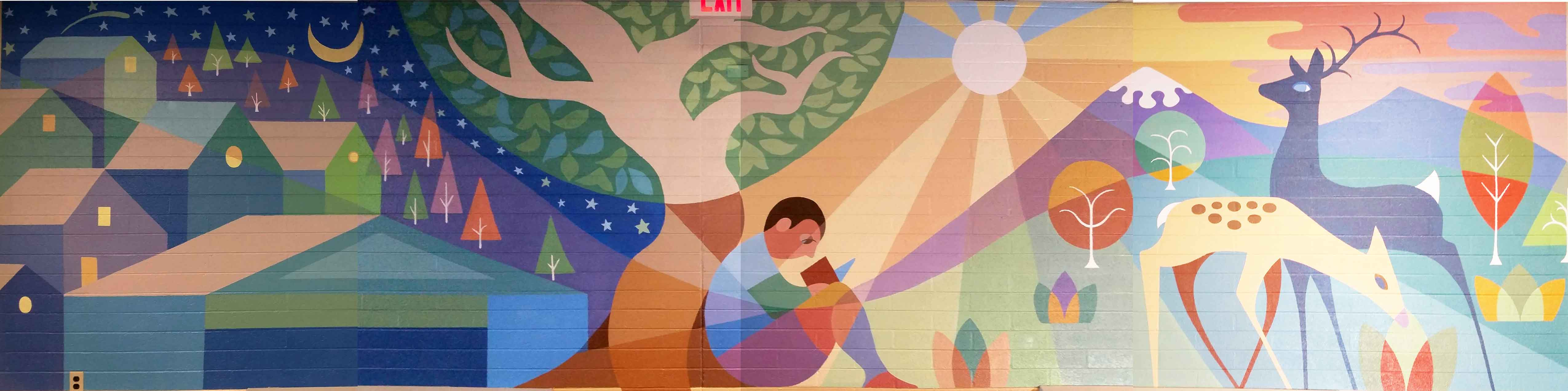 Thomas School full mural splice