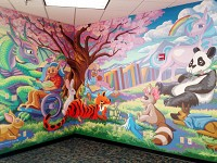 Children's Room Mural, East Flagstaff Library. 2018