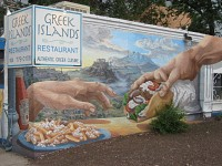 Greek Island Mural 2014-Flagstaff Az.
